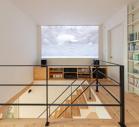 施工事例 / ホームシアターのある、趣味を楽しむナチュラルハウス